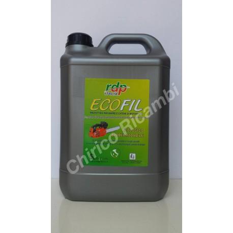 Olio Protettivo Catene Motosega ECOFIL Biodegradabile 5 Litri