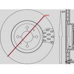 Dischi freni anteriore : Citroen - Nemo da 2008 a 2013 (AA_) - 1400 HDI 50kw 68cv  - Diesel