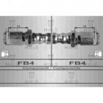 Tubo freno anteriore Fiat 500 F L D R
