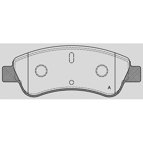Pastiglie freno anteriori Citroen DS 3