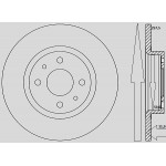 Kit dischi e pastiglie freno anteriore          : Fiat - Multipla dal 2003 al 2010 - 1600 i 16V 70kw 95cv Blupower -