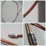 RAME Tubo del freno da 3 x 5 rame cotto con raccordi conici