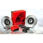 Pastiglie freno + dischi freni  Fiat  500 Cabrio 1400  74 kw 100 cv  Impianto Bosch