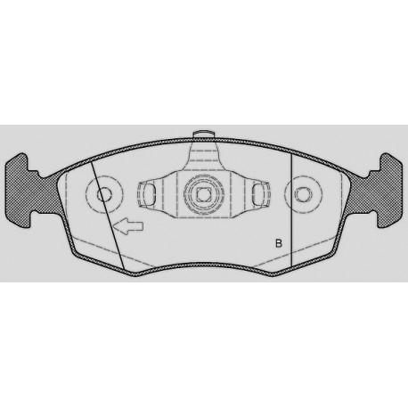 Pastiglie freno anteriore : Lancia - Ypsilon da 2009 a 2013 (312, 846) - 1200 51kw 69cv - Benzina