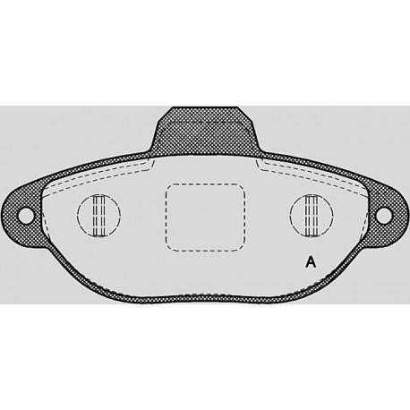 Pastiglie freno anteriore : Fiat - Seicento dal 1998 al 2011 - (187) - 1100 40kw 54cv  - Benzina
