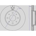 Kit dischi e pastiglie freno anteriore : Fiat - 500 Cabrio dal 2009 a oggi (312) - 1200 51kw 69cv - Benzina
