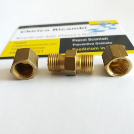 Raccordo di congiunzione in ottone diametro 6 tubo rame freni rame gasolio