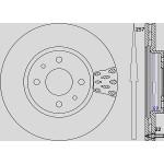 Kit dischi e pastiglie freno anteriore : Fiat - Qubo da 2008 a 2009 (225) - 1300 55kv 75cv Multijet - Diesel