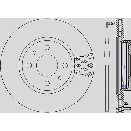 Kit dischi e pastiglie freno anteriore : Fiat - Doblo dal 2005 al 2009 - (223, 119) - 1600 76kw 103cv 16V - Benzina