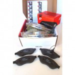 Kit dischi e pastiglie freno anteriore Citroen Nemo 1400 da 2008 a 2013