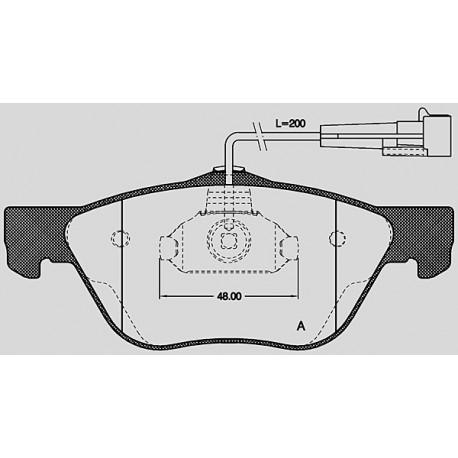Pastiglie freno anteriore : Fiat - Multipla dal 2003 al 2010 - 1900 JTD 85kw 116cv - Diesel
