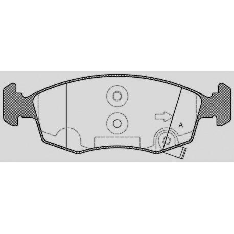 Kit dischi e pastiglie freno anteriore : Lancia - Ypsilon da 2009 a 2013 (312, 846) - 1200 49kw 67cv - Bifuel