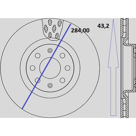 Kit dischi e pastiglie freno anteriore : Fiat - Grande Punto da 2005 a 2012 (199) - 1600 88kw 120cv Multijet - Diesel