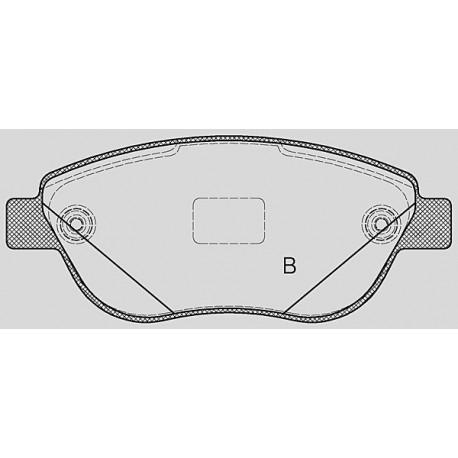 Pastiglie freno anteriore : Citroen - C3 I dal 2003 al 2009 (FC_) - 1600 16V HDI 80kw 110cv - Diesel