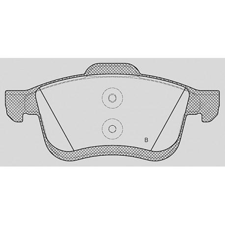 Pastiglie freno anteriore : Fiat - Doblo III dal 2009 a oggi (263) - 1400 88kw 120cv - Metano