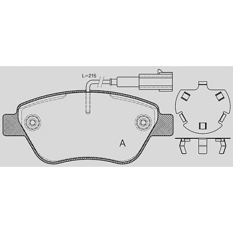 Pastiglie freno anteriore : Fiat - Punto III da 2012 a 2014 (199) - 1400 77kw 105cv - Multiair - Benzina