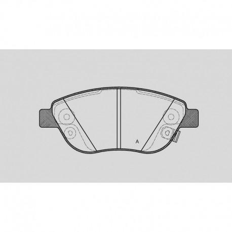 Pastiglie freno anteriori : Fiat - 500 L (199_) - 1400 88kw 120cv - Gas