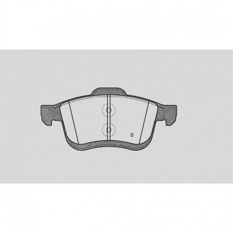 Pastiglie freno anteriore : Fiat - 500 L (199_) - 1400 88kw 120cv - Gas