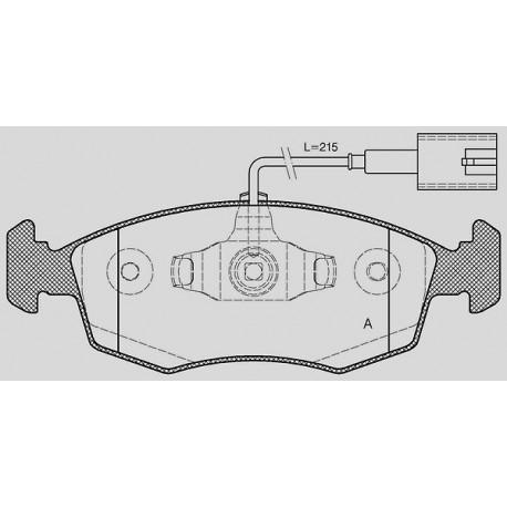 Kit dischi e pastiglie freno anteriore : Fiat - 500 Cabrio dal 2009 a oggi (312) - 900 63kw 85cv - Benzina