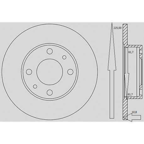 Kit dischi e pastiglie freno anteriore : Fiat - Cityvan da 1986 a 1990 - 1700 44kw 60cv diesel - Diesel