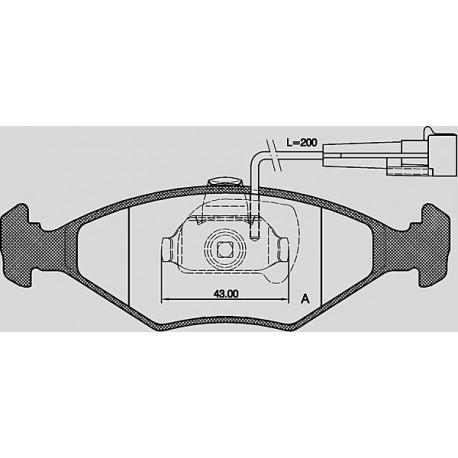 Kit dischi e pastiglie freno anteriore : Fiat veicoli commerciali - Fiorino Combi III dal 1993 al 2001 - 1700 D 42kw 57cv - Diesel