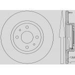 Kit dischi e pastiglie freno anteriore : Fiat - Multipla dal 2003 al 2010 - 1600 i 16V  76kw 103cv - Benzina