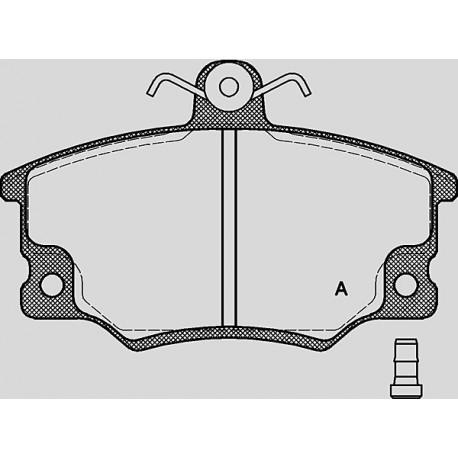 Pastiglie freno anteriore : Alfa Romeo - 145 e 146 dal 1995 al 2001 (930)  - 1400 ie 76kw 103cv 16V TS - Benzina