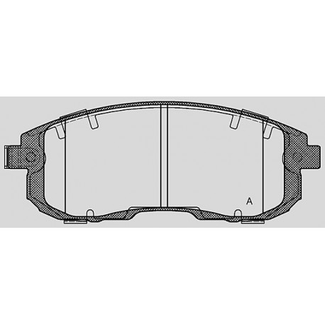 Pastiglie freno anteriore : Fiat - Sedici dal 2009 al 2013 (FY_) - 1600 16V 79kv 107cv  - Benzina