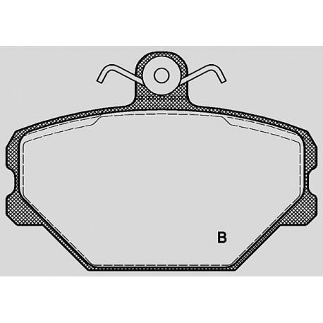 Pastiglie freno anteriore : Fiat - Tipo dal 1988 al 1995 (160) - 1900 48kw 65cv - Diesel