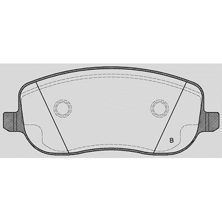 Pastiglie freno anteriore : Fiat - Ulisse II dal 2002 al 2011  - 2000 16V 100kw 136cv  - Benzina