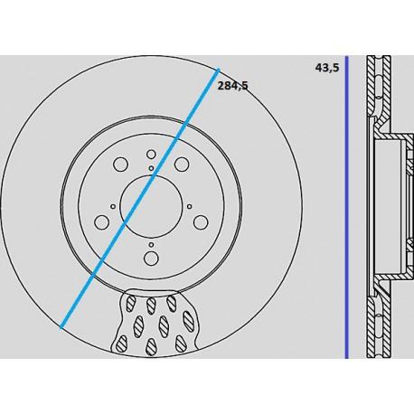 Kit dischi e pastiglie freno anteriore : Alfa Romeo - 156 - (932) - 2400 JTD 100kw 136cv - Diesel