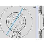 Kit dischi e pastiglie freno anteriore : Alfa Romeo - 156 - (932) - 2400 JTD 20V 129kw 175cv - Diesel