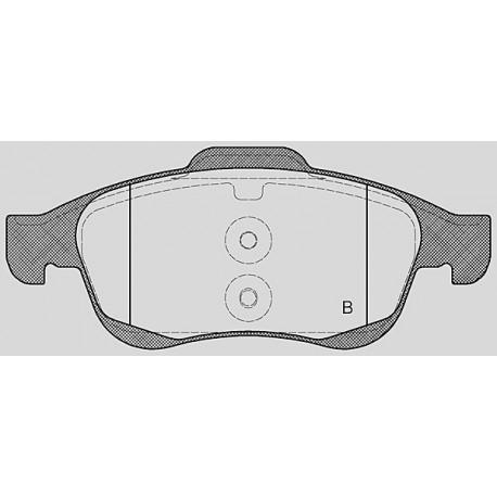 Kit dischi e pastiglie freno anteriore : Citroen - C4 II dal 2010 a 2015 (B7) - 1600 88kw 120cv - Benzina