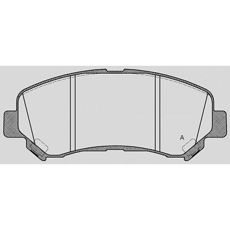 Pastiglie freno anteriore : Nissan - X-Trail II dal 2007 a 2014 - 2500 16V CVT 124kw 169cv - Benzina