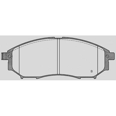 Pastiglie freno anteriore : Nissan - Qashqai dal 2007 a 2014 - 2000 16V 104kw 140cv 4x4 - Benzina