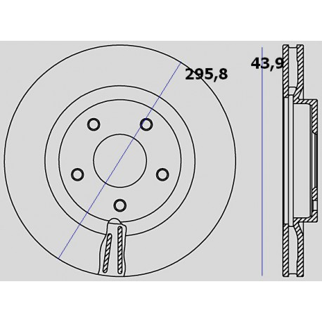 Kit dischi e pastiglie freno anteriore : Nissan - X-Trail II dal 2007 a 2014 - 2000 16V 104kw 141cv - Benzina
