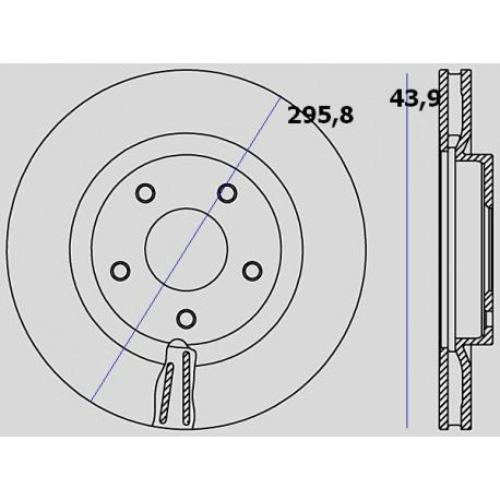 Kit dischi e pastiglie freno anteriore : Nissan - X-Trail II dal 2007 a 2014 - 2500 16V CVT 124kw 169cv - Benzina