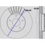 Kit dischi e pastiglie freno anteriore : Nissan - X-Trail I dal 2001 a 2007 - 2500 16V 121kw 165cv - Benzina