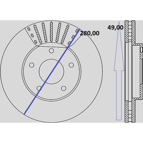 Kit dischi e pastiglie freno anteriore : Nissan - Primera III dal 2002 al 2006 (P12, WP12) - 2200 DCI 102kw 139cv - Diesel