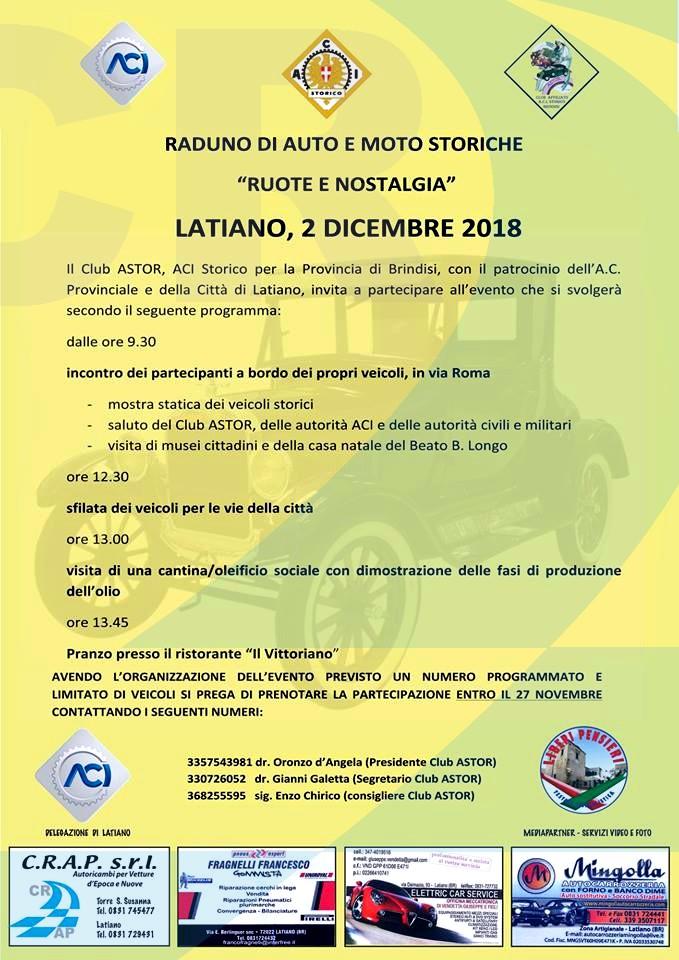 Club Astor - ACI Storico - Auto d'epoca - Chirico Ricambi