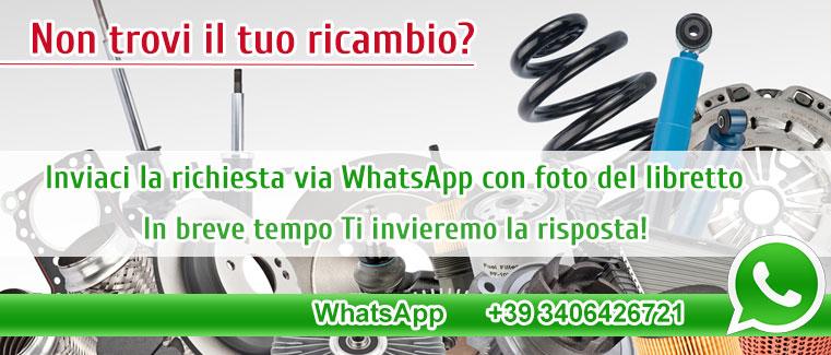 Trova il tuo ricambio con un messaggio whatsapp
